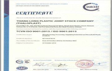 CERTIFICATE ISO 9001-2015